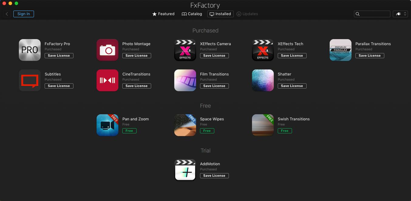 《FxFactory Pro 7.0.0.5523_超强视觉特效插件包》