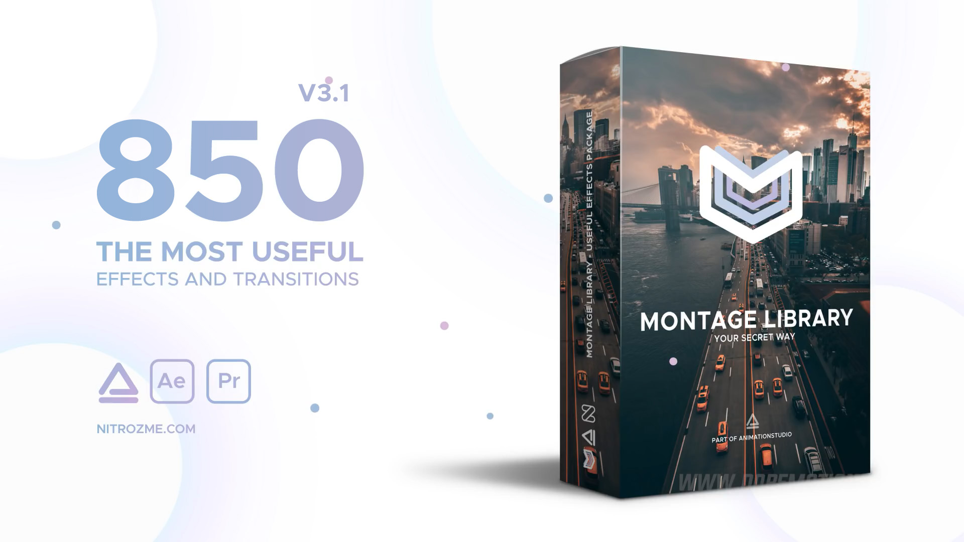 《AE脚本+预设包:Montage Library - Most Useful Effects_蒙太奇资源包(Animation Studio)》