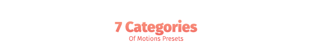 《AE脚本:Action Library - Motion Presets Package_图形文字动作库 - 动画预设包(Win&Mac)》