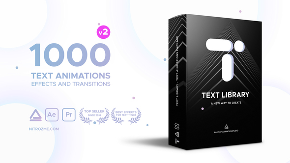 《AE脚本:Text Library - Handy Text Animations_文本库 - 方便的文字文本动画(Win&Mac)》