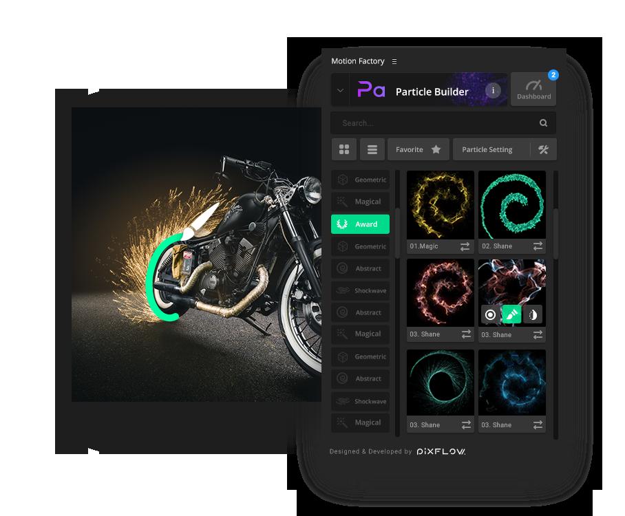 《AE插件:Motion Factory v2.42_包含最新5大特效包_For Win&Mac(19年6月更新)》