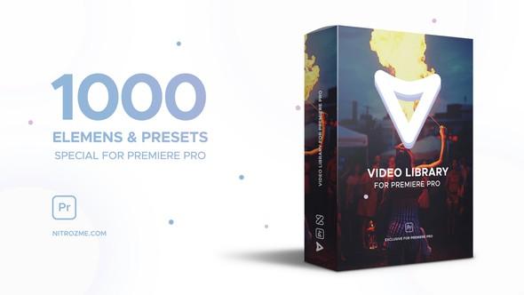 《PR工程模板:Video Library for Premiere Pro_包含1000个视频设计包装特效》
