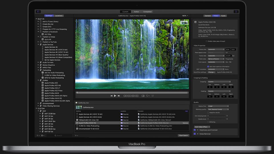 《Mac软件:Apple Compressor 4.4.2_视频编码压缩软件》