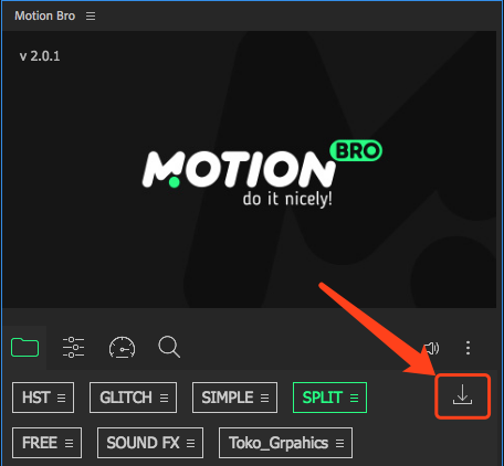 《AE脚本预设:Split Handy Transitions_400+分裂撕裂拆分转场过渡预设(Motion Bro)》