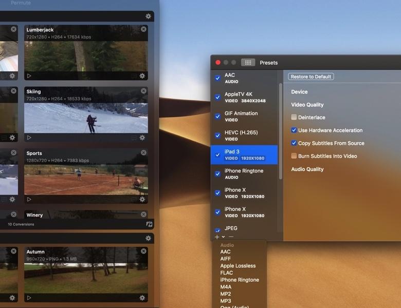 《Mac软件:Permute 3 v3.4.9_最纯粹简洁的多媒体转码软件》