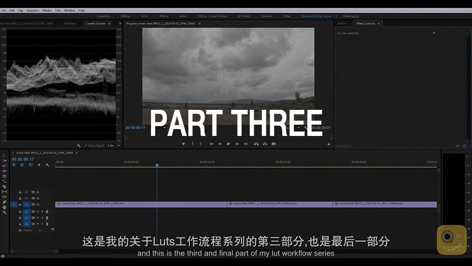 《教程:LUT工作流程解释 Part 3 _Adobe Premiere(中英字幕)》