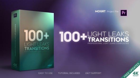 《PR预设:超100个4K酷炫光晕炫光转场_Light Leaks Transitions | MOGRT》