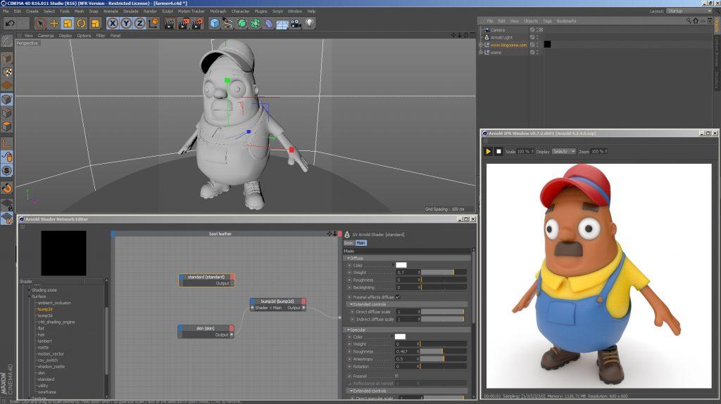 《C4D插件:Arnold for Cinema 4D 2.5.0 ( C4DtoA) _C4D阿诺德渲染器_R18/R19/R20_(Win版)》