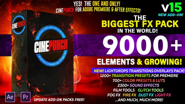 《CINEPUNCH v15_超9000个特效元素_号称全世界最强大的特效套装》