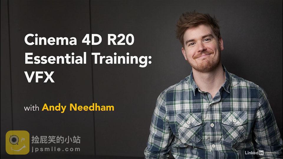 《C4D教程:Lynda_Cinema 4D R20基础入门教程:特效篇_含英文字幕+工程文件》