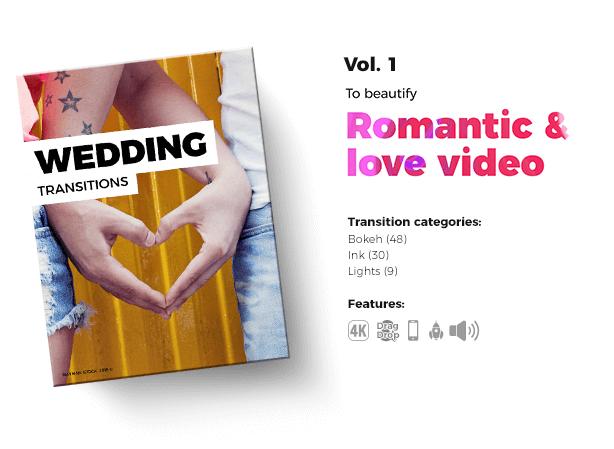 《PR工程:1300个酷炫婚礼-Vlog-运动-电影-4合1视频转场过渡套装》