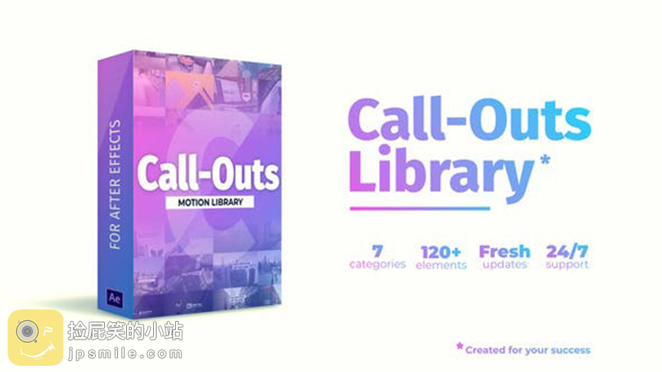 《AE模板:Call-Outs Library 120多种线条呼出介绍指示标注动画》