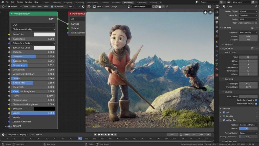 《Blender v2.82 免费开源且强大的全能三维动画制作软件(Win&Mac&Linux)》