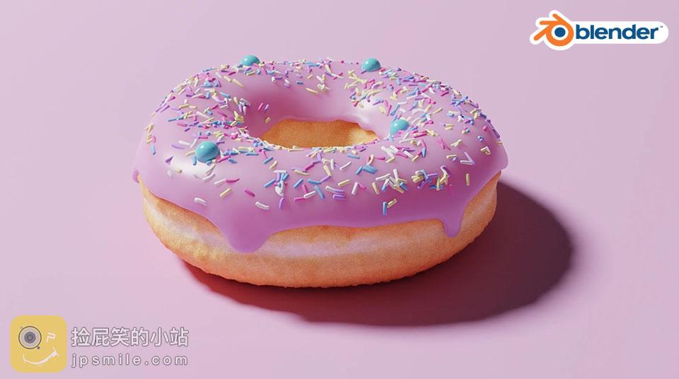 《Blender教程:Blender 2.8基础入门系列教程_Blender制作美味的CG甜甜圈》