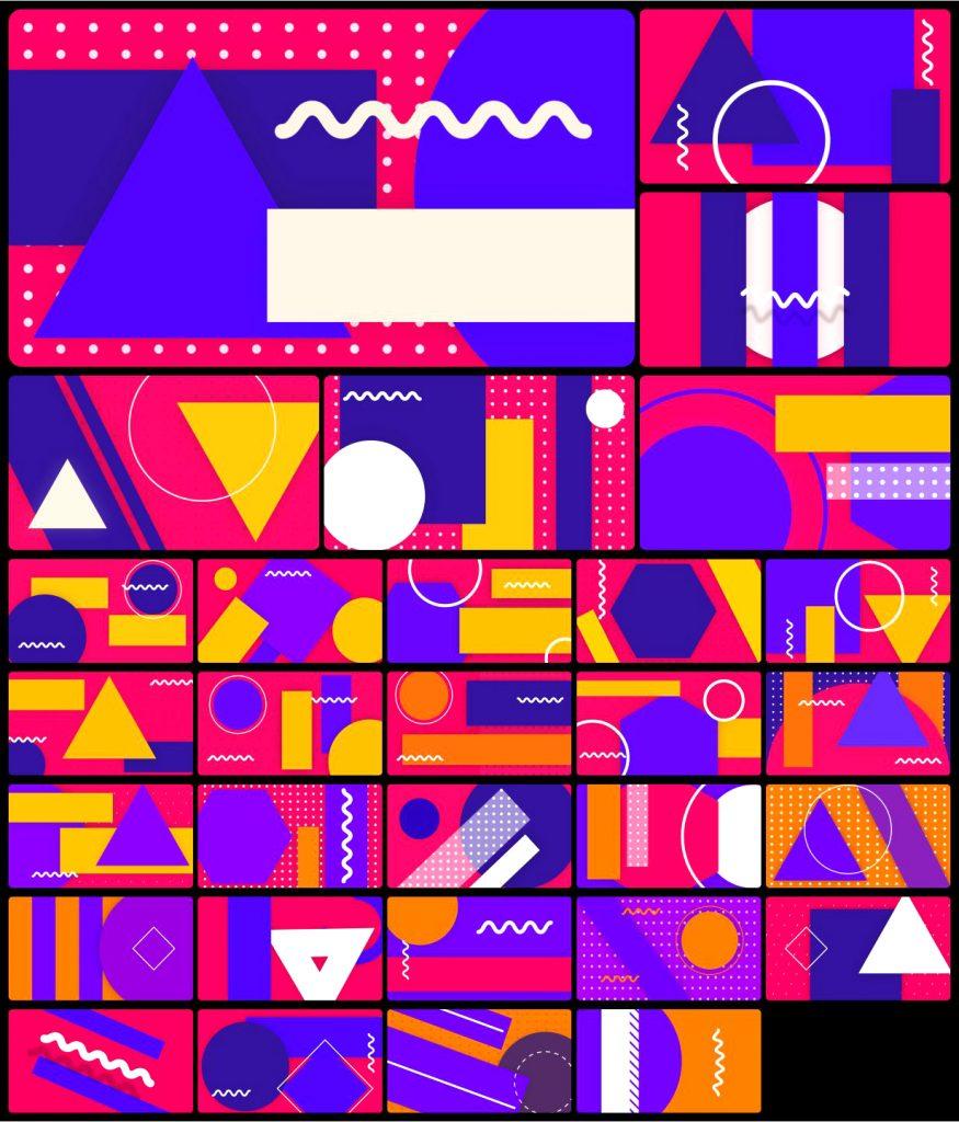 《AE脚本及预设:Gaze–Graphic Library 超2000个时尚版式标题设计MG动画背景转场预设图形库(Animation Studio)》
