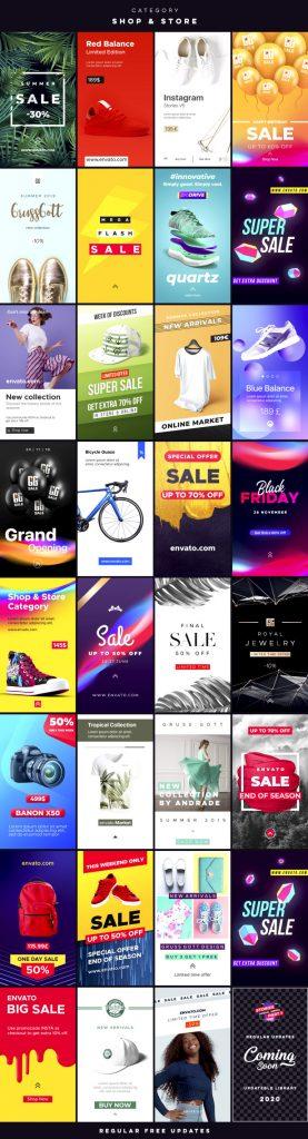 《AE扩展:超1700个Instagram手机横竖屏文字标题动画社交媒体包装元素包_Social Media Pack v6.2 (Atom)》