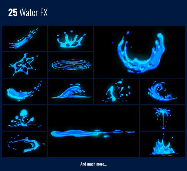 《AE/PR扩展脚本:850个FX卡通动漫流体动画元素转场特效包(Motion Factory)》