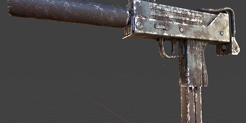 《Blender插件:Grungit 1.8.3 模型添加磨损瑕疵划痕控制插件》