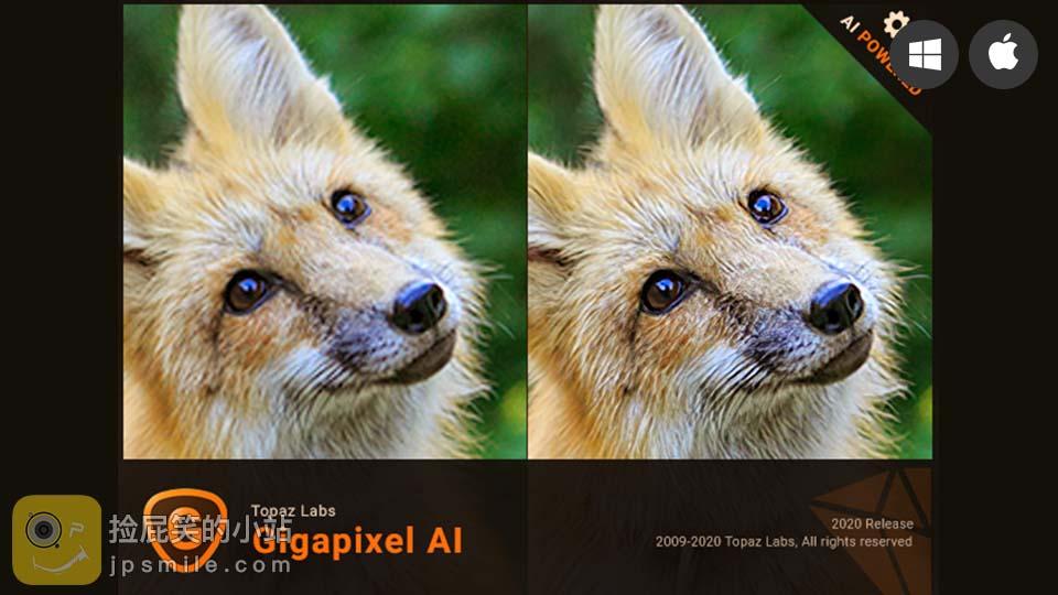 《Topaz Gigapixel AI v5.0.3 使用AI智能无损放大照片(Win&Mac)》